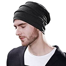 SIGGI Unisex Wool Knit Slouch Beanie Hat Cap Winter Thick Two-Layer Warm