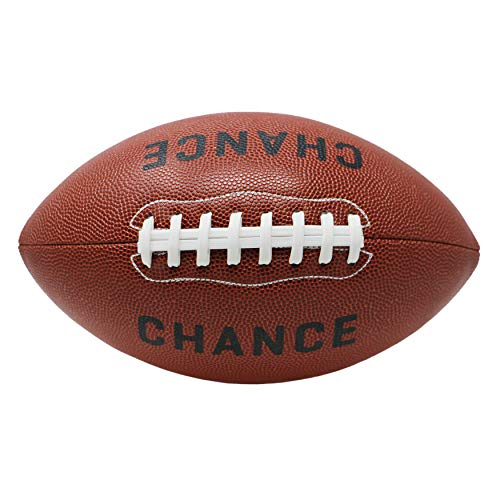 Chance Football - Composite PRO Leather (Sizes 7 Kids & Youth Football, 9 Official NFL Football Size) (7 Kids & Youth - 10.5