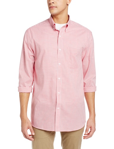 Cutter & Buck Men's Long Sleeve Epic Easy Care Tattersall Shirt, Red, - Bucks Warehouse Discount