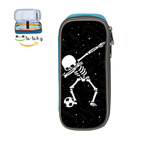 Kids Dabbing Skeleton Soccer Ball 3D Printing School Pencil Case Pen Bag Pouch for -
