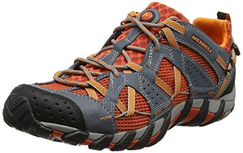 MerrellWaterpro Maipo - Zapatos de Low Rise Senderismo hombre Multicolor (Dark Grey/Spicy Orange)