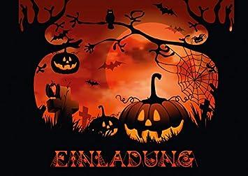 Noche En El Cementerio Pack De 12 Invitaciones Terrorificas Para - Imagenes-terrorificas-de-halloween