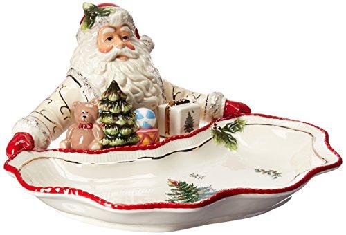 Spode Christmas Tree Santa Dish, Gold
