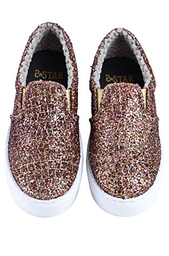 Gold 2Star Shoes Women's Bronze Beaded Loafers 37 niPgwifHb