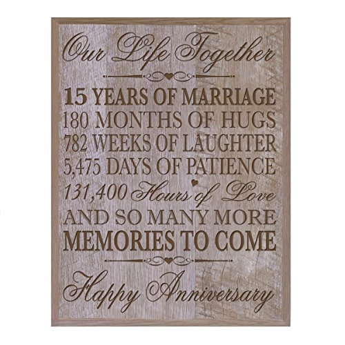 15th Wedding Anniversary Gift for Couple,custom 15th Anniversary Gifts for Her,15th Wedding Anniversary Gifts for Him Special Dates to Remember, By LifeSong Milestones (Barnwood)
