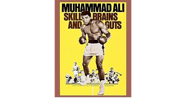 Muhammad Ali Skill Old Advertising Poster reproduction brains /& Guts