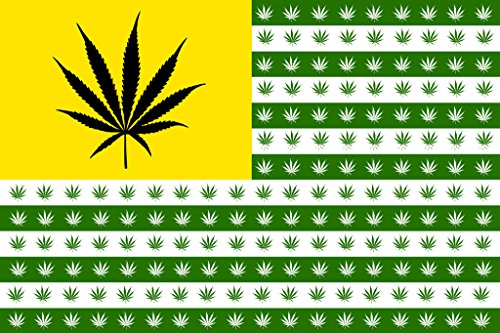 Marijuana-Flag-Leaves-And-Stripes-Parody-Old-Glory-Weed-Pot-Cannabis-Yellow-Green-Poster-12x18