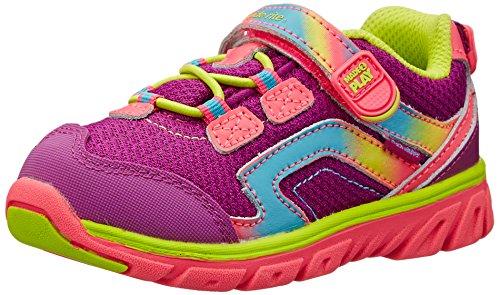 Stride Rite Made 2 Play Baby Myra Sneaker ,Pink/Lime,7.5 M U