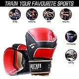 KnSam Boxing Gloves Adult, Black Boxing Gloves for
