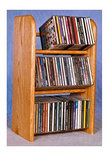(Dowel CD Rack w 3 Row (Honey Oak))