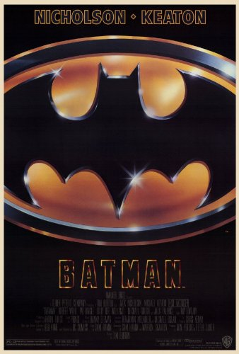 Batman Movie Poster (27 x 40 Inches - 69cm x 102cm) (1989) -(Michael Keaton)(Jack Nicholson)(Kim Basinger)(Robert Wuhl)(Tracey Walter)(Billy Dee Williams)