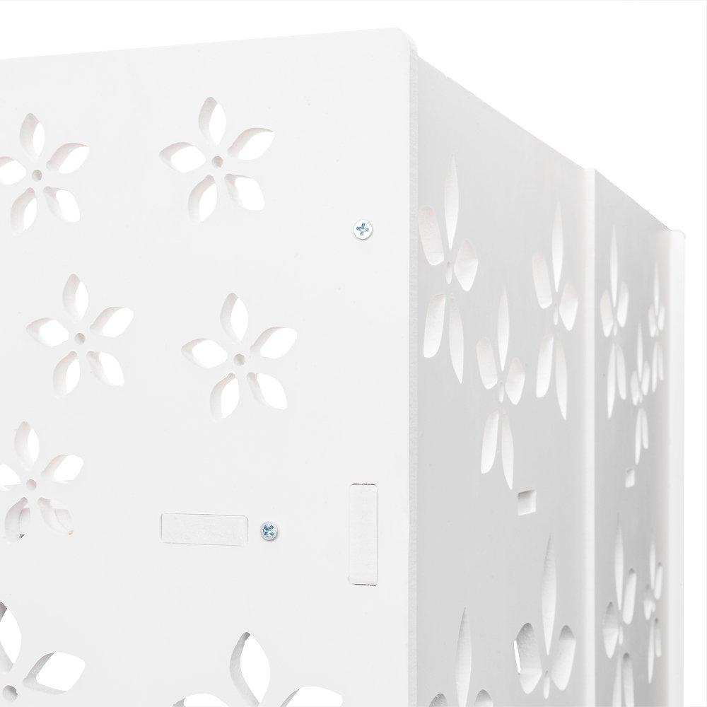 Zipperl Storage Rack Wood-Plastic Board Two Tiers Multifunctional Unit Storage Organizer Shelf Bookcase Free Standing White