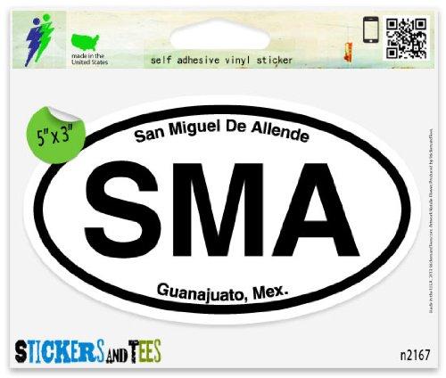 Miguel Stickers - SMA San Miguel de Allende Mexico Oval Car Sticker Indoor Outdoor 5