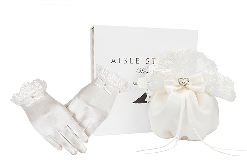AISLE STYLE First Holy Communion Purses Gloves Set