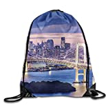 Beatybag 3D Print Drawstring Bags Bulk, Rainbow Bridge Unisex Outdoor Gym Sack Bag