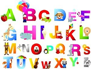 Amazon.com : Kid's Alphabets sticker set (26pcs) educational ...