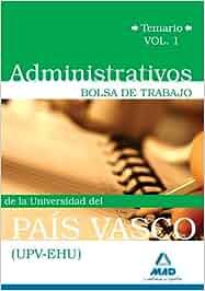 La Vasco Universidad Del País UpvehuBolsa De Administrativos SUMpzV