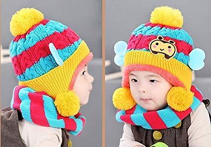 4518e221919 Hosaire 1pc Bébé Chapeaux Chapeau Hiver Bébé Bonnet Bébé en Laine Bonnet  Hiver pour Bébé Chapeaux Bebe Ensemble Calotte Chapeau Mignon Forme De  Jolie Petite ...