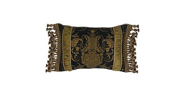 Amazon.com: Sherry Kline China Art Black Boudoir Pillow ...
