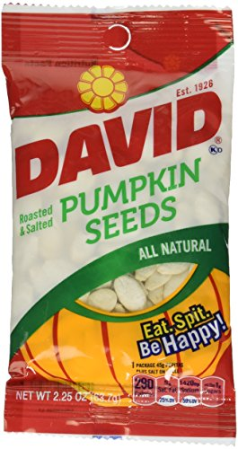 David All Natural Roasted & Salted Pumpkin Seeds 2.25 oz]()