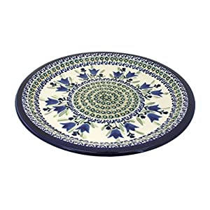 Blue Rose Polish Pottery Blue Tulip Dinner Plate