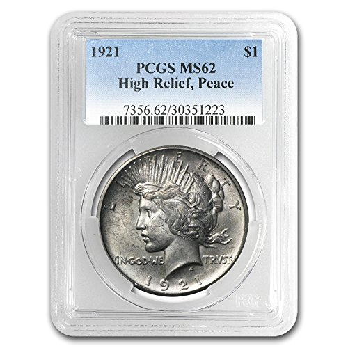 1921 Peace Dollar MS-62 PCGS $1 MS-62 PCGS
