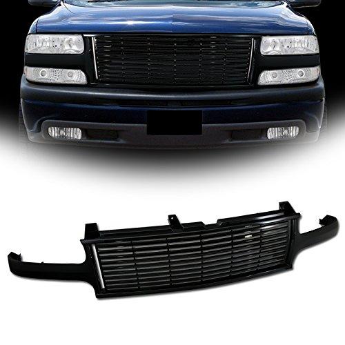 VXMOTOR Horizontal Front Bumper Grill Grille (Black) for 1999-2002 Chevy Silverado, 2000-2005 Chevy Tahoe/Suburban Model (2002 Silverado Grill)