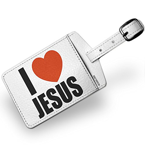 Luggage Tag I Love Jesus - NEONBLOND by NEONBLOND