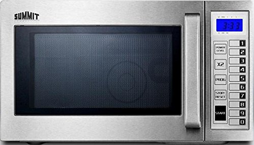 Summit SCM1000SS - Microwave, Stainless Steel, Digital Controls, 1000 Watts, 0.9 Capacity, Lot of 1
