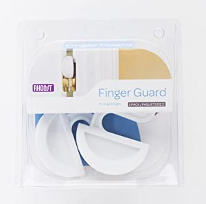 Rhoost Finger Guard - Finger Pinch Preventer Baby Proofing Door and Hinge Pinch Guard, White, 2-Pack