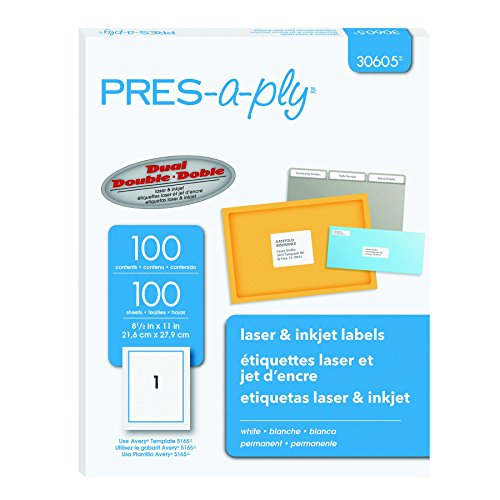 Pres Address Labels Inches 30605