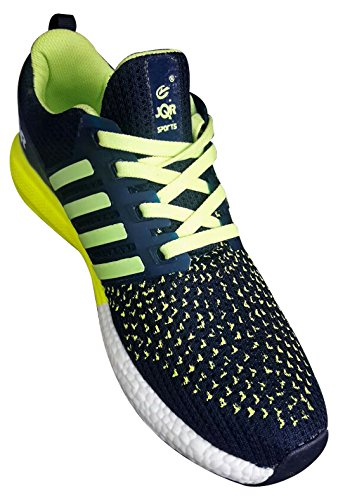 b92cb1924e3c JQR SPORTS Mens Navy Blue Parrot Green Running Athletic Training Cycling Gym  jogging Runners Outdoor Shoes