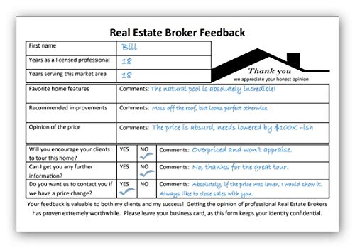 Listing Agent Success Must Have for MLS Broker's Open! A Broker's Open House is an Event Where only Real Estate Professionals are Invited to get Reliable Feedback for Sellers. Sign in Sheet Pads.
