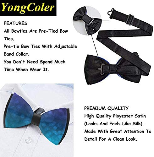 Casual And Formal Pre-Tied Bow Ties Cute Pug Dog Formal Event Rave Party Tuxedo Neck Band Cravat Adjustable Length Paisley Bow Ties