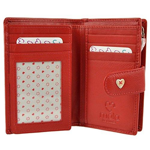 Leather Bolso cartera Rojo Rojo estilo para Mala mujer dxwtgTqd5n