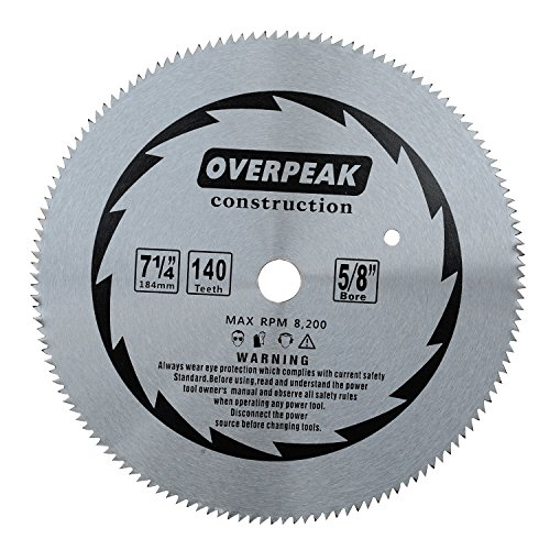 Overpeak 7-1/4 inch 140 Tooth without Carbide Tipped Saw Blade Specially for Fine Finishing Cut of Hard and Thick - Blade Circular Saw Tooth Fine
