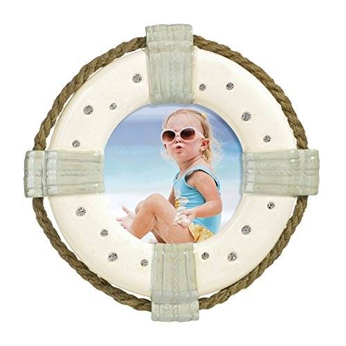 Water Works Monopoly Costume (Ceramic Life Preserver Beach Themed Photo Frame)