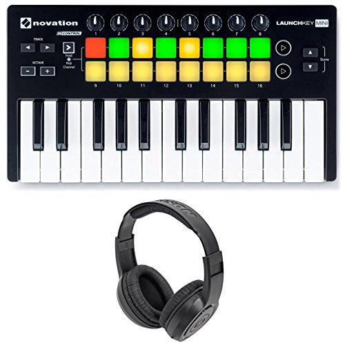 Novation LAUNCHKEY MINI MK2 25 Key USB Keyboard Controller+Headphones
