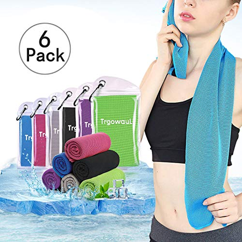 Trgowaul Cooling Towels 6 Pack, 40 x 12 Inches, Ice Towel, Soft Breathable Chilly Towels, Microfiber Towel for Yoga, Sport, Running, Gym, Workout,Camping, Fitness, Workout & More Activities by Trgowaul (Image #7)