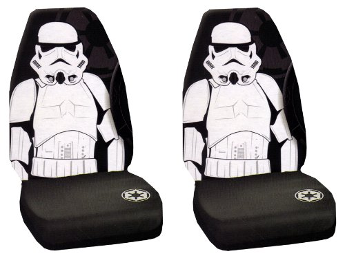 Storm Trooper Villain Character Full Body Star Wars Car Truck SUV Universal-fit Bucket Seat Covers - PAIR (Bucket Fit Storm)