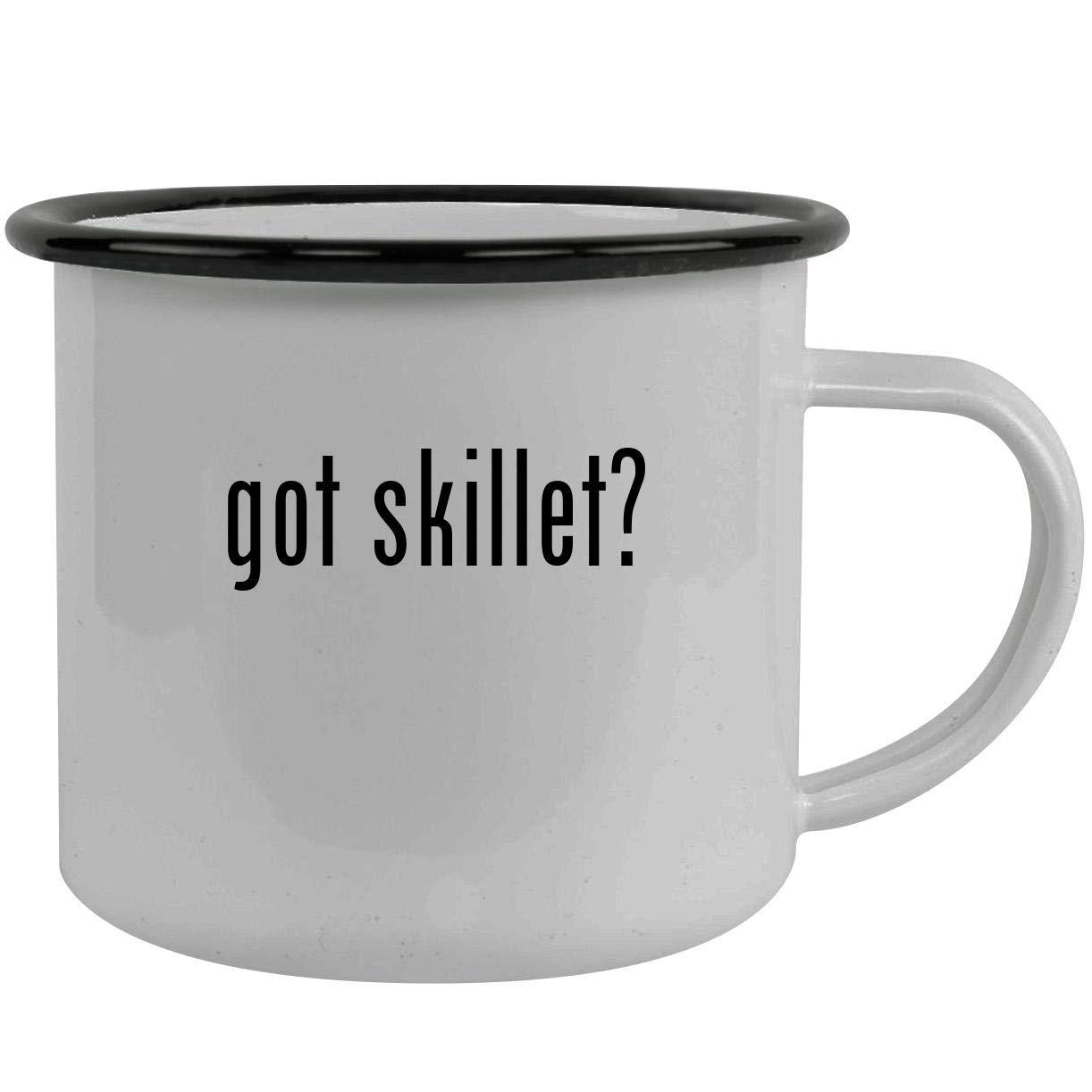 got skillet? - Stainless Steel 12oz Camping Mug, Black