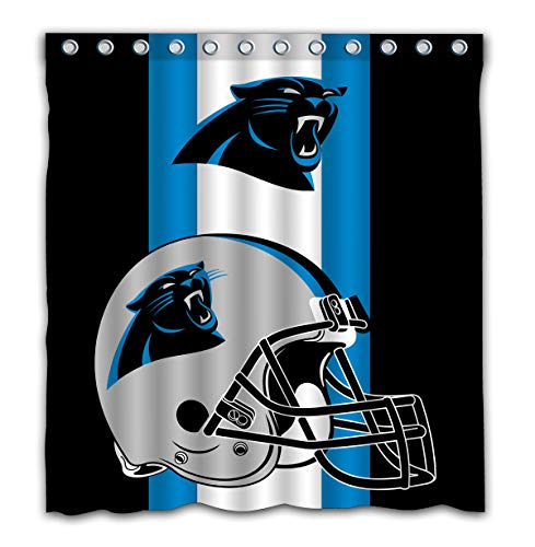 - Potteroy Carolina Panthers Team Simple Design Shower Curtain Waterproof Polyester Fabric 66x72 Inches
