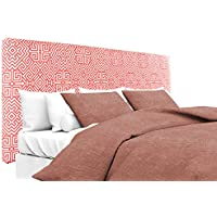 MJL Furniture Designs Alice Padded Bedroom Headboard Contemporary Styled Bedroom Décor, Santorini Series Headboard, Salmon Finish, Queen Sized, USA Made