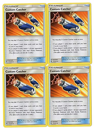 Custom Catcher 171/214 - Sun Moon Lost Thunder - Trainer Card Set - x4 Card Lot (Playset)