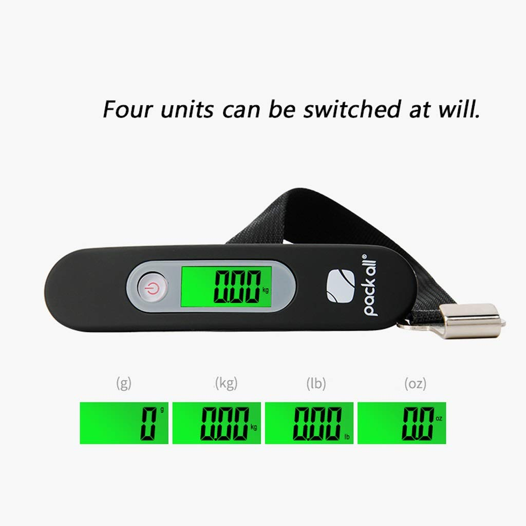 Portable Digital Suitcase Hanging Scales Weighing Scale with Backlit Display for Travel//Outdoor//Home Use Color : Black 88 lb// 40 KG Capacity SKATEGY Electronic Luggage Scale