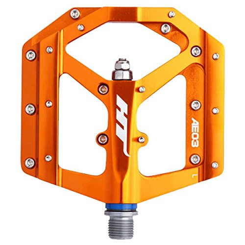 HT Components AE03 Evo Pedals Orange, One Size by H.T. Enterprises
