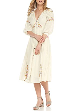 Free People Day Glow Embroidered Midi Dress Medium at Amazon Women s ... 53950f7bf
