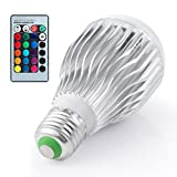 Boomile E26 LED Light Bulb 10W RGB Color Changing LED Lamp Dimmable with Remote Control