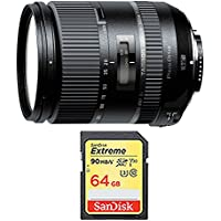 Tamron 28-300mm F/3.5-6.3 Di VC PZD Lens and 64GB Card Bundle - Include Lens and Memory Card