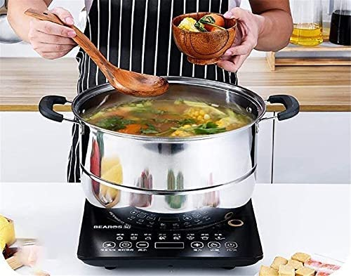 """Pans for cooking Glass Lid Steamer Food Steamer Set 3 Tier Cooking Stainless Steel Steamer Induction Cooker General Gas Pot (Size: 28cm) (Size : 32cm) (Size : 28cm)    """"Welcome to our mallHappy shopping!Our products have been thoroughly tested, inspected and packaged before delivery.If you have any questions, please feel free to contact us so that we can provide you with the best service.""""NJOLG is committed to providing premium and long-lasting cookware, which inspires your passion for cooking.Heating method: charcoal cooker induction cooker gas cooker electric ceramic cooker, etc.?Easy to clean Safe for health Comfortable handle to keep cold Suitable for all hobs, including induction does not absorb odors and flavors safe for children and allergy sufferers durable and heat resistant Electrolytic polishing treatment in the pot: anticorrosion resistant to wear hygienic and healthy.?Material: food grade stainless steel Product process: mirror polishing process Product features: steaming under the steam / time saving and energy saving Applicable scene: kitchen / restaurant etc.?Applicable cooker: universal The lid design: seeing cooking is easier to grasp the heat of the food.?Antioverflow vent hole: helps eliminate steam and effectively prevents burns on the hands.?Steaming sheet design with two pieces of steaming pads the pot is convenient and practical for steaming.?Freestanding steaming grill freestanding the design of the steaming grill also flows delicious and has no smell.?If you are not satisfied with our products, please feel free to contact us, we will contact you within 24 hours. For more related product details, please search for """"WFGS725S""""."""